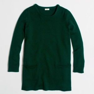 J. Crew Pocket Tunic Sweater Black Size Medium